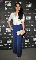 Sam Quek at the Broadcast Awards 2018, Grosvenor House Hotel, Park Lane, London, England, UK, on Wednesday 07 February 2018.<br /> CAP/CAN<br /> &copy;CAN/Capital Pictures