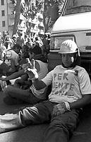 Genova 21 Luglio 2001.G8.Il corteo dei Disobbedienti