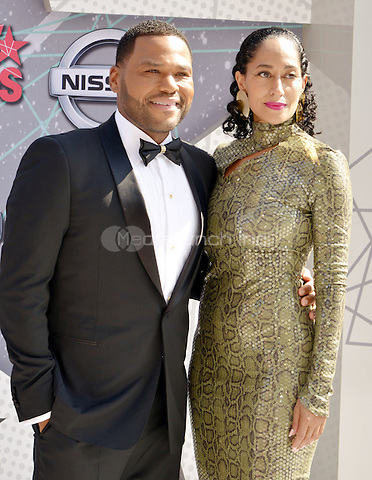 LOS ANGELES, CA - JUNE 26: Anthony Anderson, Tracee Ellis Ross at the 2016 BET Awards at the Microsoft Theater on June 26, 2016 in Los Angeles, California. Credit: Koi Sojer/MediaPunch