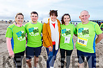 Ready for the Inch Half Marathon on Inch Beach on Sunday morning.L-r, Ciara and Jerome Tagney (Listry/Faha), Sue Ann Haskett, Annette O'Sullivan (Newcastlewest) and Gabriel Gallagher (Listry/Faha)