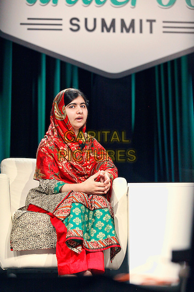 PHILADELPHIA, PA. - OCTOBER 21: Nobel Peace Prize recipient Malala Yousafzai speaks at the Forbes Under 30 Summit in Philadelphia on October 21, 2014. <br /> CAP/MPI/STA<br /> &copy;Star Shooter/MediaPunch/Capital Pictures