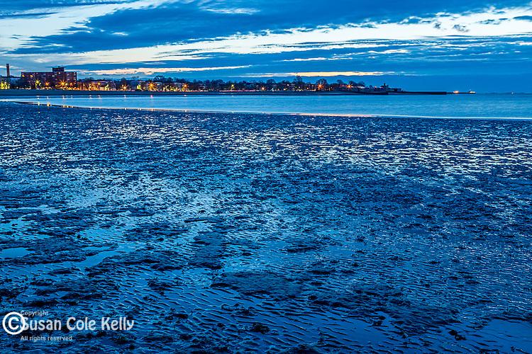 Sunrise on Carson Beach in South  Boston, Massachusetts, USA
