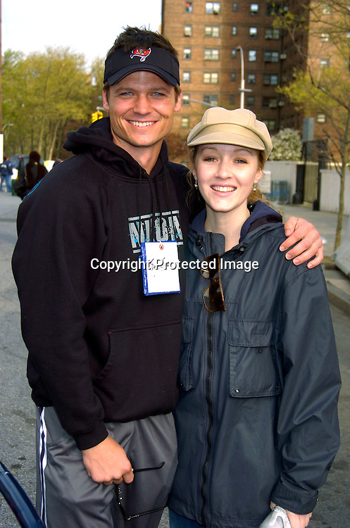 Bailey Chase and Jennifer Ferrin ..at the March of Dimes Walkamerica 2004 on Sunday April  25, 2004 in New York City. ..Photo by Roibn Platzer, Twin Images