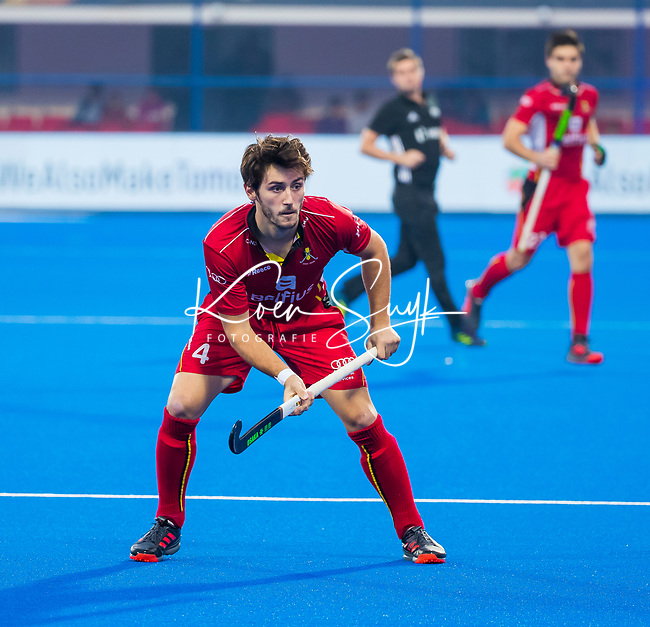 BHUBANESWAR (INDIA) - Arthur van Doren (Belgie)   tijdens Belgie-Pakistan bij het WK Hockey heren.   COPYRIGHT KOEN SUYK
