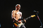 Various live photographs of the rock band, the Red Hot Chili Peppers.