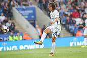 9th September 2017, King Power Stadium, Leicester, England; EPL Premier League Football, Leicester City versus Chelsea; David Luiz of Chelsea passes the ball in midfield