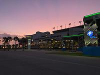 Early morning photo of Daytona Speedway before 2019 Hurricane Dorian in Daytona, Fla. on August 31, 2019.