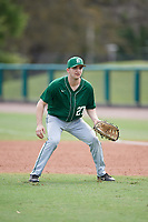Dartmouth Big Green Oliver Campbell (27) during practice before a game against the USF Bulls on March 17, 2019 at USF Baseball Stadium in Tampa, Florida.  USF defeated Dartmouth 4-1.  (Mike Janes/Four Seam Images)