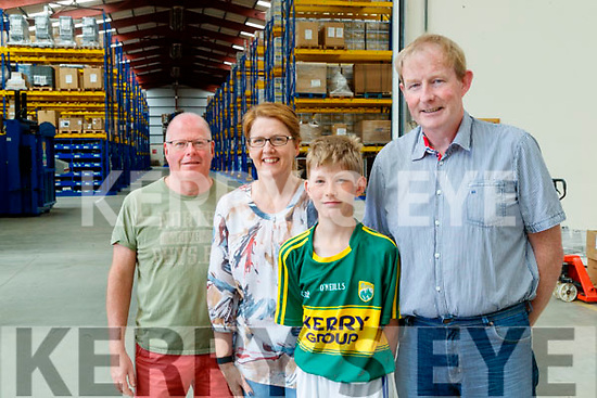 Kieran Noonan, Mary Harty, Joseph Harty and Liam Harty, pictured a tour of Dairymaster on Sunday last.