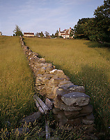 Stone walls and house, Little Compton, RI