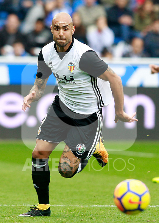 Valencia CF's Simone Zaza during La Liga match. October 28,2017. (ALTERPHOTOS/Acero)