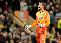 Norwich City's Tim Krul celebrates as his side go 2-0 ahead<br /> <br /> Photographer David Shipman/CameraSport<br /> <br /> The EFL Sky Bet Championship - Norwich City v Bolton Wanderers - Saturday 8th December 2018 - Carrow Road - Norwich<br /> <br /> World Copyright &copy; 2018 CameraSport. All rights reserved. 43 Linden Ave. Countesthorpe. Leicester. England. LE8 5PG - Tel: +44 (0) 116 277 4147 - admin@camerasport.com - www.camerasport.com