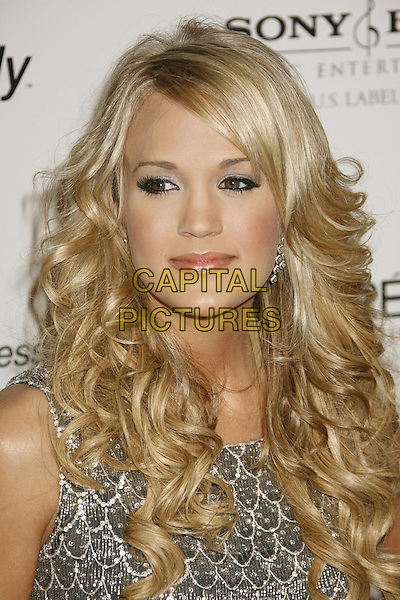 CARRIE UNDERWOOD.Clive Davis 2007 Pre-Grammy Awards Party held at the Beverly Hilton Hotel, Beverly Hills, California, USA..February 10th, 2007.headshot portrait .CAP/ADM/RE.©Russ Elliot/AdMedia/Capital Pictures