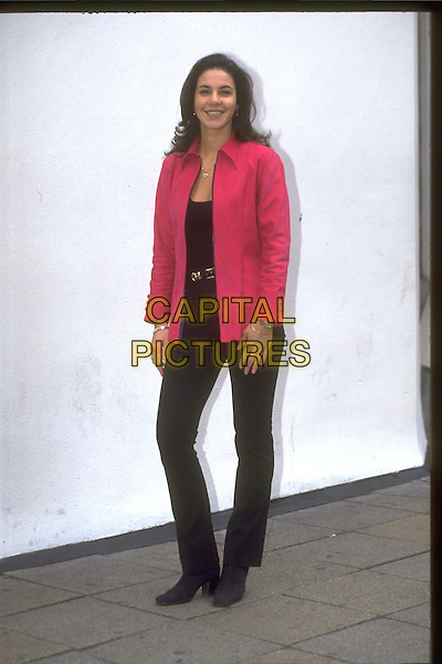 JULIA BRADBURY.Ref: 4525.full length, full-length, pink blazer, jacket.*RAW SCAN - photo will be adjusted for publication*.www.capitalpictures.com.sales@capitalpictures.com.© Capital Pictures