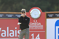 Miguel Angel Jimenez (ESP) waits to tee off the 14th tee during Thursday's Round 1 of the 2017 Omega European Masters held at Golf Club Crans-Sur-Sierre, Crans Montana, Switzerland. 7th September 2017.<br /> Picture: Eoin Clarke | Golffile<br /> <br /> <br /> All photos usage must carry mandatory copyright credit (&copy; Golffile | Eoin Clarke)