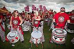© Joel Goodman - 07973 332324 . 06/06/2015. Manchester , UK.  Drummers performing at The Parklife 2015 music festival in Heaton Park , Manchester . Photo credit : Joel Goodman