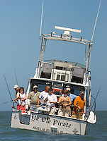 A group of fishermen on a boat in Amelia Island, FL