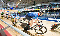 Picture by Allan McKenzie/SWpix.com - 06/01/2018 - Track Cycling - Revolution Champion Series 2017 - Round 3 - HSBC UK National Cycling Centre, Manchester, England - Charlie Kelly, Team Inspired, HSBC UK, Kalas, branding.