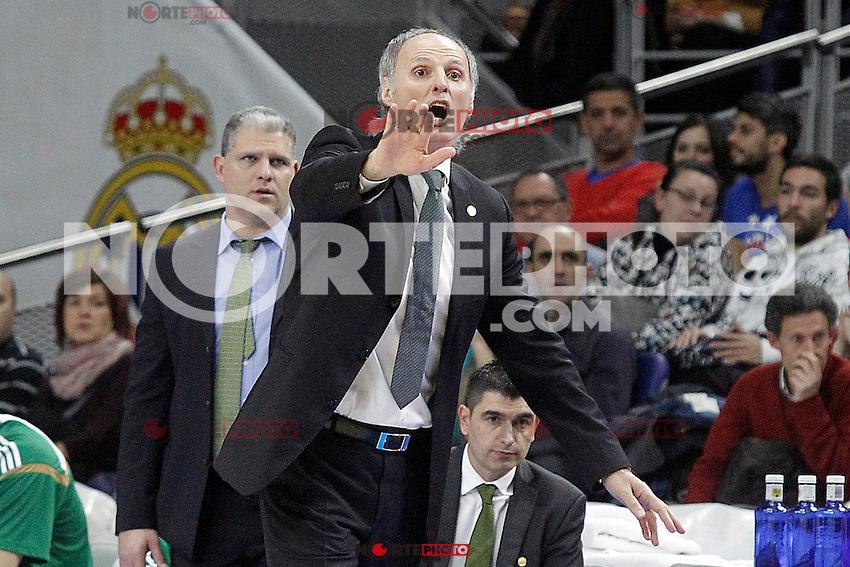 Panathinaikos Athens' coach Dusko Ivanovic during Euroleague match.January 22,2015. (ALTERPHOTOS/Acero) /NortePhoto<br /> NortePhoto.com
