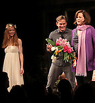 Genevieve Angelson, Billy Magnussen, Sigourney Weaver during the Broadway Opening Night Performance of 'Vanya and Sonia and Masha and Spike' at the Golden Theatre in New York City on 3/14/2013.