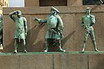 Detail of Sjomannsmonumentet, Seaman's Monument, by Dyre Vaa 1950, Torgallmenningen, Bergen, Norway