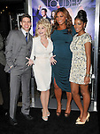 Cast photo of Jeremy Jordan, Dolly Parton, Queen Latifah and Keke Palmer at the premiere of Joyful Noise held at Grauman's  Chinese Theatre in Hollywood, CA. January 9, 2012