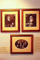 Historical portraits of the Baileys at the Bailey House Museum, an historical mission house with Hawaiiana and art and craft demonstrations, Wailuku, Maui