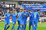10.03.2019, Prezero-Arena, Sinsheim, GER, 1 FBL, TSG 1899 Hoffenheim vs 1. FC Nuernberg, <br /> <br /> DFL REGULATIONS PROHIBIT ANY USE OF PHOTOGRAPHS AS IMAGE SEQUENCES AND/OR QUASI-VIDEO.<br /> <br /> im Bild: Jubel ueber das Tor zum 1:0 durch Andrej Kramaric (TSG Hoffenheim #27), mit dabei Pavel Kaderabek (TSG Hoffenheim #3), Nadiem Amiri (TSG Hoffenheim #18), Joelinton (TSG Hoffenheim #34), Florian Grillitsch (TSG 1899 Hoffenheim #11), Nico Schulz (TSG 1899 Hoffenheim #16) und Ermin Bicakcic (TSG Hoffenheim #4)<br /> <br /> Foto &copy; nordphoto / Fabisch