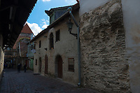 Medieval walls in Tallinn Katarina Kirik district