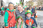 Having fun at the St patrick's day parade in Castleisland were Noreen,Ciara & Jason Casey with Deirdre Guiney.