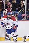 Andrew Orpik, Jeremy Hall - The Boston College Eagles defeated the University of Massachusetts-Lowell River Hawks 4-3 in overtime on Saturday, January 28, 2006, at the Paul E. Tsongas Arena in Lowell, Massachusetts.