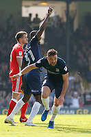 GOAL - Stephen McLaughlin of Southend United score during the Sky Bet League 1 match between Southend United and MK Dons at Roots Hall, Southend, England on 21 April 2018. Photo by Carlton Myrie.