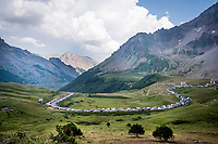 Campervan alley up the Col du Galibier (HC/2622m/23km@5.1%)<br /> <br /> Stage 18: Embrun to Valloire(208km)<br /> 106th Tour de France 2019 (2.UWT)<br /> <br /> ©kramon