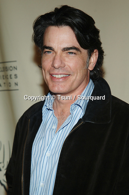 Peter Gallagher arriving at the O.C. Revealed with Television Academy Members on the Warner Studio Lot in Los Angeles. march 21, 2005.