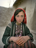 Asli Gul, 13 years old..Family relatives of Pir Shah Ismail in Qala-e Pinja..Winter expedition through the Wakhan Corridor and into the Afghan Pamir mountains, to document the life of the Afghan Kyrgyz tribe. January/February 2008. Afghanistan