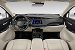 Stock photo of straight dashboard view of a 2020 Cadillac XT4 Premium Luxury 5 Door SUV