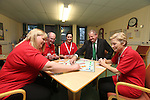 Keith Farron from TATA Steel with volunteers from Age Cymru Ann Smith, Glyn Thomas, Sophie Wilson &amp; Linda Goldsworthy at St Woolos Hospital in Newport.<br /> <br /> 05.12.13<br /> &copy;Steve Pope-FOTOWALES