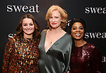 "Alison Wright, Johanna Day and Michelle Wilson attend the after party for the Broadway Opening Night of ""Sweat"" at Brasserie 8 1/2 on March 26, 2017 in New York City."