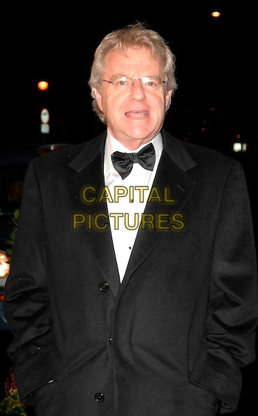 JERRY SPRINGER.Variety Club Showbiz Awards at the Park Lane Hilton, London, England. .November 18th 2007.half length black tuxedo jacket bow tie glasses mouth open .CAP/CAN.©Can Nguyen/Capital Pictures