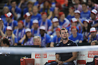 Leon Smith, GB Coach, MARCH 05, 2016 - Tennis : Leon Smith, GB Coach looks on during the Davis Cup by PNB Paribas , World Group first round between Great Britain and Japan at The Barclaycard Arena, Birmingham, United Kingdom. (Photo by Rob Munro/AFLO)