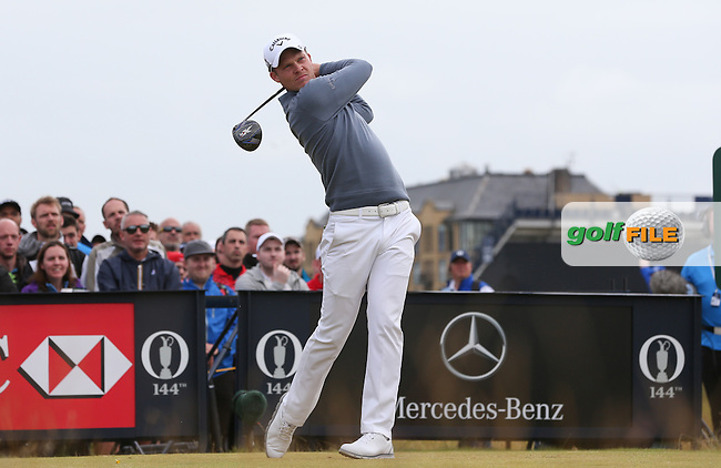Danny Willett (ENG) drives the 4th during Round Three (Sunday) at the 144th Open, played at the Old Course, St Andrews, Scotland. /19/07/2015/. Picture: Golffile | David Lloyd<br /> <br /> All photos usage must carry mandatory copyright credit (&copy; Golffile | David Lloyd)