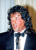 Academy Award nominated actor Sylvester Stallone appears at a press conference at the Touchdown Club in Washington, DC on January 23, 1988.  Stallone was in the Nation's Capital to participate in the Touchdown Club awards dinner.<br /> Credit: Arnie Sachs / CNP