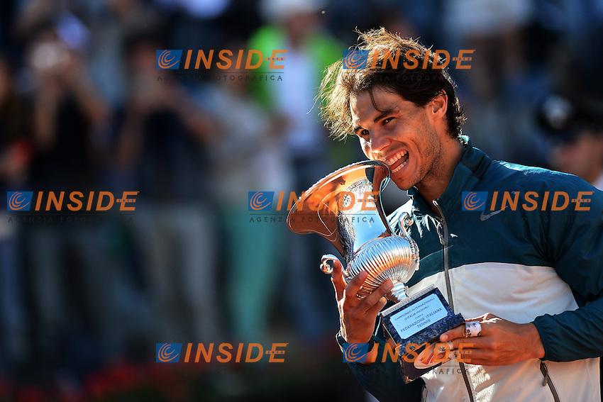 Il vincitore Rafael Nadal Spagna .The Winner Rafael Nadal Spain .Roma 19/05/2013 Foro Italico .Tennis Internazionali d'Italia 2013 .Finale Final .Foto Andrea Staccioli Insidefoto