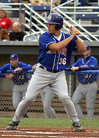 July 26, 2003:  Catcher Paul Richmond (36) of the Auburn Doubledays, Class-A affiliate of the Toronto Blue Jays, during a game at Dwyer Stadium in Batavia, NY.  Photo by:  Mike Janes/Four Seam Images