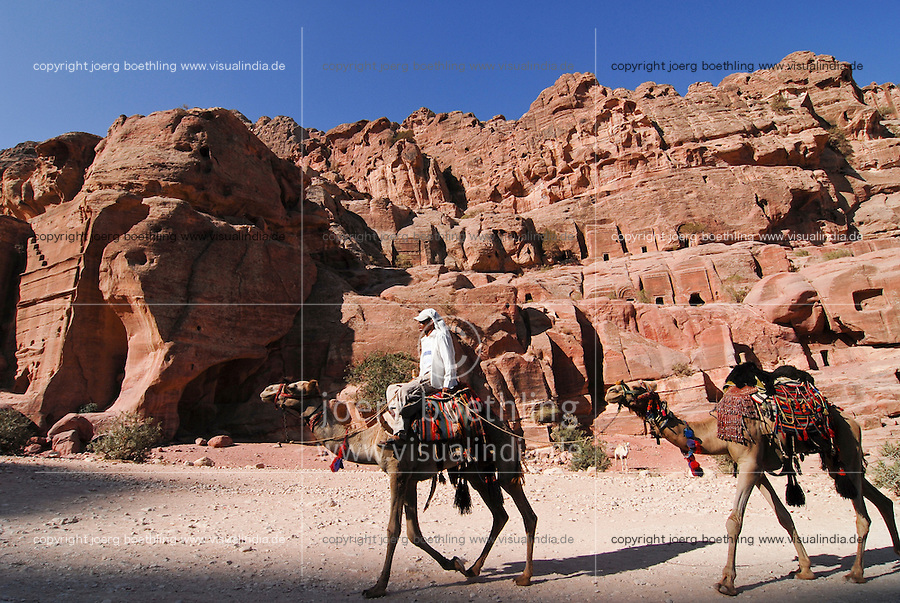 JORDAN, UNESCO world heritage archaeological site Petra, originally known as Raqmu to the Nabataeans / JORDANIEN, historische Nabataeer Stadt Petra