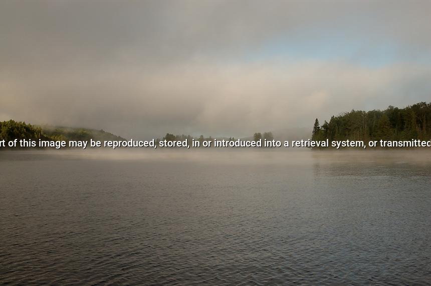 Mist over Tea Lake Algonquin Park Ontario Canada