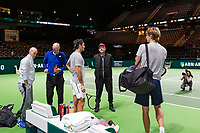 Rotterdam, Netherlands, 12 Februari, 2018, Ahoy, Tennis, ABNAMROWTT, Boris Becker, Roger Federer (SUI)<br /> Photo:tennisimages.com