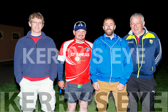 Ready to do the St Pats GAA Club,Blennerville Dingle Way Challenge on Sunday morning, Jimmy Mulligan (Chairperson), Peter Keane,Seamus Murphy and Derek O'Sullivan.
