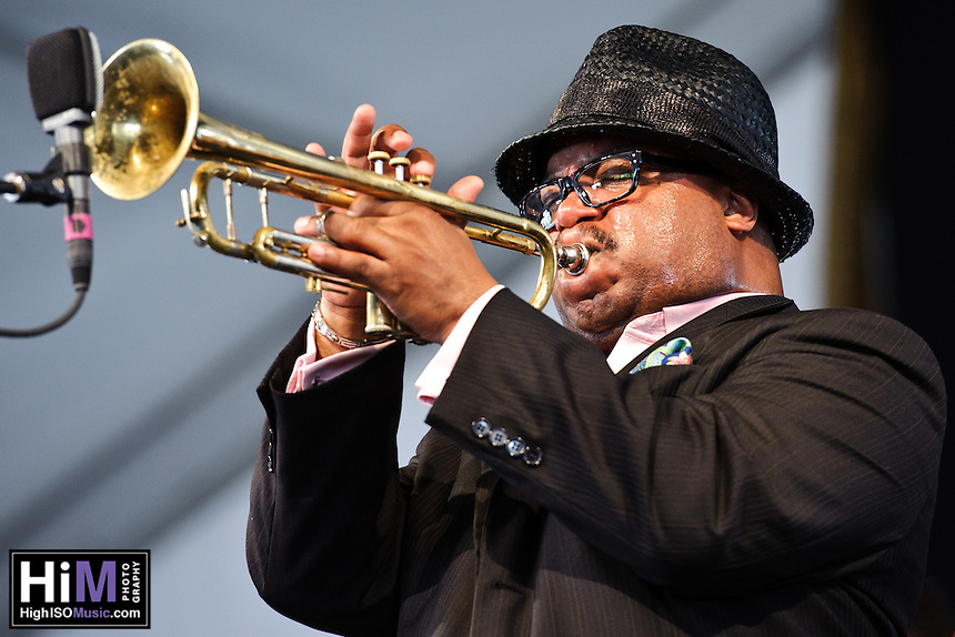 Nicholas Payton's set at  Jazz Fest 2011 in New Orleans, LA on day 6.