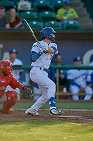 Tre Todd (11) of the Ogden Raptors bats against the Orem Owlz at Lindquist Field on June 22, 2019 in Ogden, Utah. The Owlz defeated the Raptors 7-4. (Stephen Smith/Four Seam Images)
